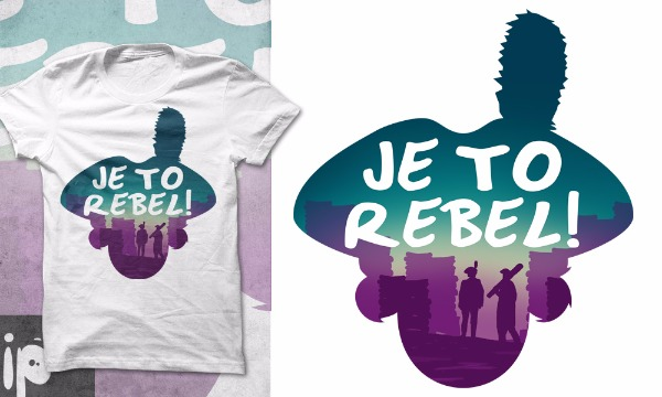 Detail návrhu Je to rebel!
