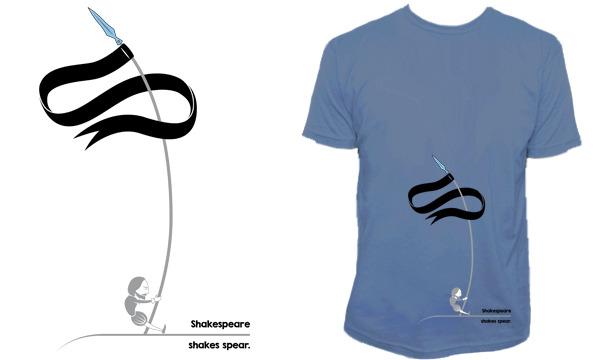 Detail návrhu Shakespeare shakes spear.