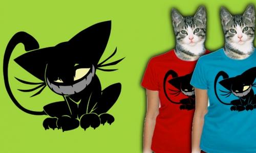 Detail návrhu Evil cat