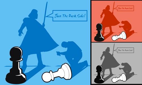 Detail návrhu Join The Dark Side!