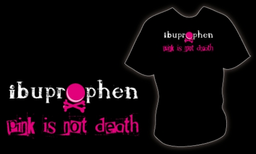 Detail návrhu ibuprophen - pink is not death