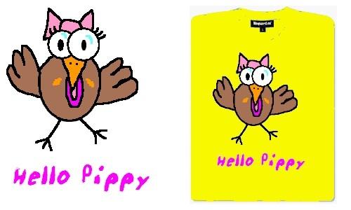 Detail návrhu HELLO PIPPY - žlutá