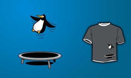 Detail návrhu Penguin Can Fly