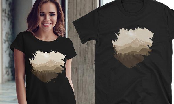 Detail návrhu Tričko na hory