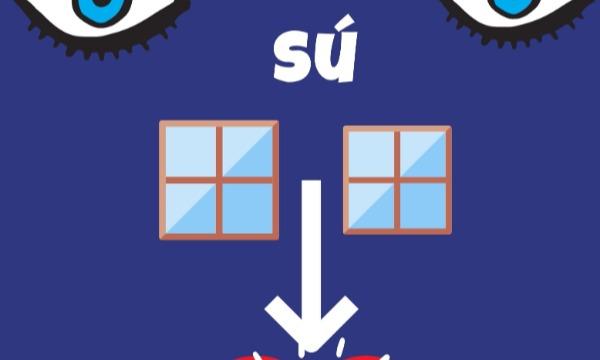 Detail návrhu Oči sú oknami