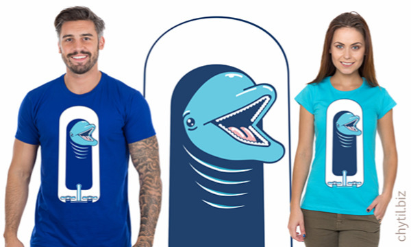 Detail návrhu delfín ve vaně