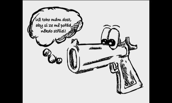 Detail návrhu Mluvící pistole