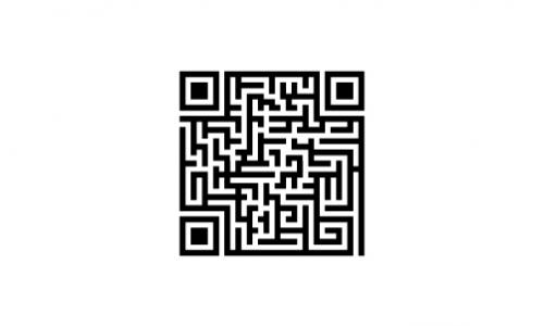 Detail návrhu qr labyrint