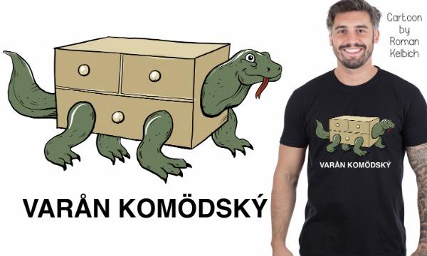 Detail návrhu Varan komodský