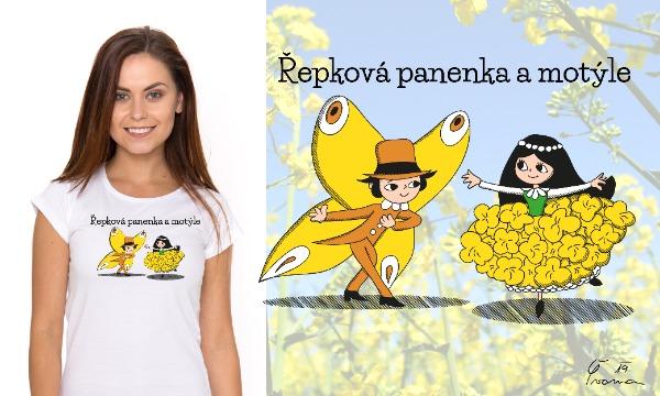 Detail návrhu Řepková panenka a motýle