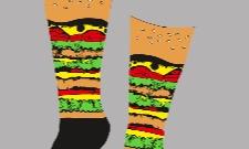 Návrh na ponožky - hamburger :P