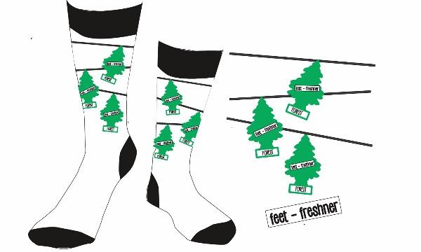 Detail návrhu Návrh na ponožky - voňavé stromčeky :D