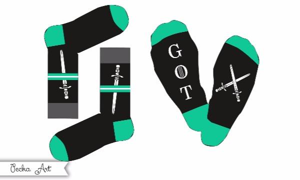 Detail návrhu Návrh na ponožky pre fanúšikov :)