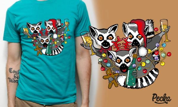 Detail návrhu Vianočné lemuríky :)