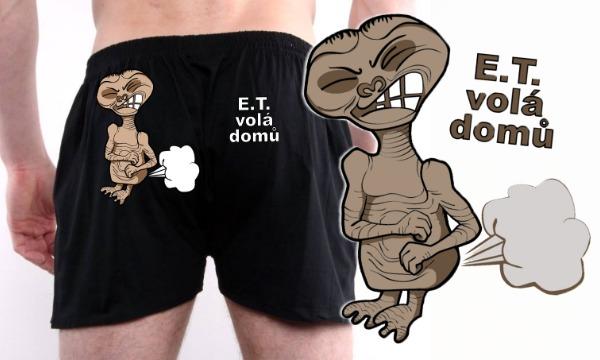 Detail návrhu E.T. volá domů - Pánská verze