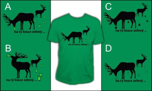 Detail návrhu Na tý louce zelený...