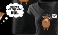 Vůl/Kráva - párové s nadsázkou triko
