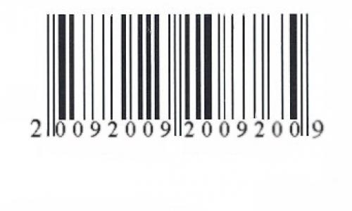 Detail návrhu Čárový kód 2009